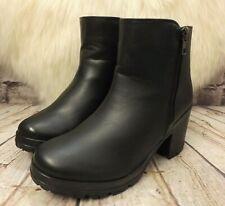 Womens Apache Black High Heel Platform Ankle Boots Shoe Size UK 4 EUR 37