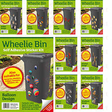 Wheelie Bin Stickers Self Adhesive Decoration Wheely Dustbin House Numbers Cover