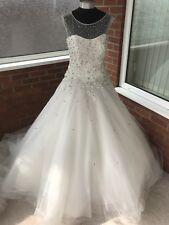 RONALD JOYCE WEDDING DRESS IVORY SIZE UK 14 (ONE ONLY)