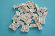 50 Lego Platte Fliesen Fliesenkonverter 1x2 mit Noppe weiß NEU 15573