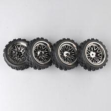 4Pcs RC Rally Tires&Wheel 12mm Hex BBSM+PP0487 For HSP HPI 1/10 Off Road Car