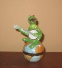 "Limoges Kermit The Frog ""On Top Of The World"" Trinket Box Henson"