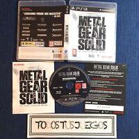 Metal Gear Solid The Legacy Collection INCOMPLETO LEER Playstation 3 BUEN ESTADO