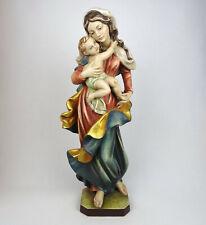 Holzfigur Madonna mit Kind, MADONNA ULRICH 50cm, geschnitzt Südtirol