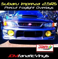 Fits: 97-01 Impreza WRX STI Fog light Rally Yellow Overlays Tint Vinyl Precut RS