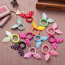 10Pcs Girls Hair Accessories Ribbon Dot Gum Headband Elastic Ring Rubber Rope N