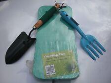 Garden Gardening Hand Trowel-Spade,Fork And Foam Kneeling Pad 3pc Set