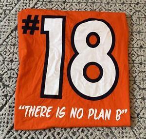 Peyton Manning #18 Denver Broncos NFL Football Sports tee tshirt Size Large