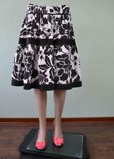 Zara Knee Length Cotton Floral Skirts for Women