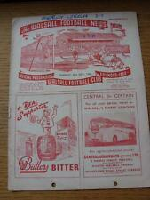 20/10/1958 Walsall v Lincoln City [Friendly] (writing throughout, punched holes,
