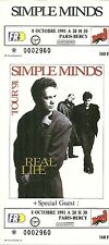 RARE / TICKET DE CONCERT - SIMPLE MINDS PARIS BERCY - OCTOBRE 1991 / COMME NEUF