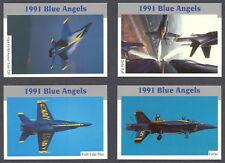 US NAVY BLUE ANGELS 21 CARDS SET McDonnell Douglas PHANTOM SKYHAWK F-18 HORNET