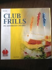 """Royal Club Frill Frills Wood Wooden Toothpicks, 4"""", Assorted 1000 Count Box"""