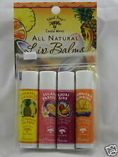 ALL-NATURAL, HAWAIIAN LIP BALM (4-FLAVORS PACK) by Island Soap & Candle Works