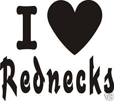 Love Redneck Cowboy Rodeo Decal Vinyl Car Sticker