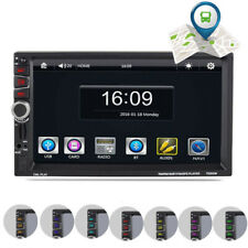"2 DIN 7"" Touch Screen Car MP5 Player GPS Sat NAV Navigation BT Radio Free EU Map"