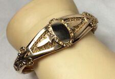 Top Hinge Bangle (V28) Victorian Gold Filled Fancy Filigree
