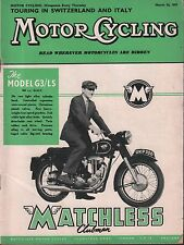 Motor Cycling March 14 1957 Matchless Model G3/LS, Switzerland 071717DBE