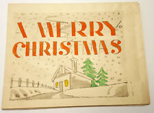 More details for ww2 italy prisoner of war christmas card hand made 1945, unposted.