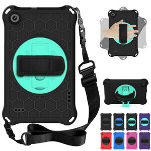 For Amazon Kindle Fire 7 9th 7th 5th Gen Hand Strap Rotate Heavy Duty Case Cover