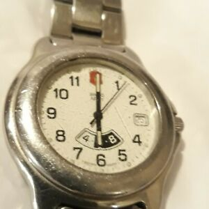 VTG SWISS ARMY OFFICER'S WATCH- DATE- HOUR - AM / PM - RUNNING - NEW BATTERY