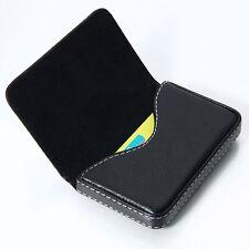 New Mens Black Pocket PU Leather Business ID Credit Card Holder Case Wallet