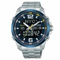 Pulsar Homme Acier Inoxydable Bracelet SPORTS Montre Bleu 100M (PZ4003X1)