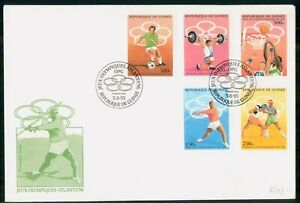 Mayfairstamps Guinea FDC 1995 Olympic Sports Combo Javelin Throw First Day Cover