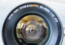 RARE HOYA HMC ZOOM & MACRO 25-42mm F3.5 LENS, CAPS, FILTER & CASE  PENTAX PK FIT