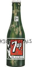 "12""7UP 7 UP BOTTLE (7U207) COOLER POP soda coca cola machine decal"