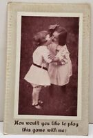 How Would You Like to Play this game with Me ? Kissing Postcard D6