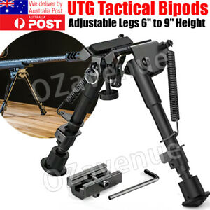 "Adjustable 6""-9"" Height Sniper Hunting Rifle Bipod Sling Shooting Mount Stand AU"