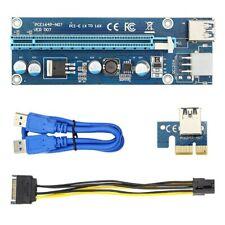 PCI-E Riser 1x to 16x Powered USB 3.0 GPU Extender Adapter Card Bitcoin Mining