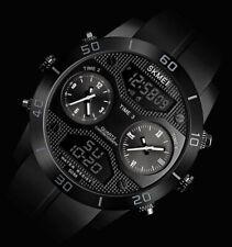 XXL SKM Analog Digital Herren Armband Uhr Schwarz Weiß Chronograph Dualtimer