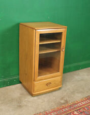 Vintage Ercol Hi Fi Cabinet, Elm, Windsor Record Player Media Unit Games Console