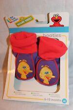 New In Box Sesame Street Yellow Bird Booties Meduim 6-12 Months