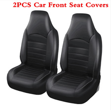 Universal 2Pcs PU Leather Car Front Seat Covers SUV High Back Bucket Protector