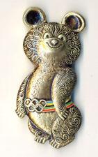 XXII Moscow-1980 Olympics Games Mascot MISHA Large Badge