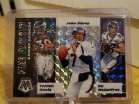 2020 Mosaic Flea Flicker Denver Broncos Elway Davis McCaffrey Silver Prizm SP