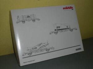 """Märklin 45093 - Wagenset """"Flugzeugtransport"""" - (055-131) - neuwertig - TOP"""