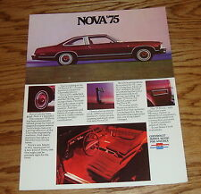 Original 1975 Chevrolet Nova Sales Brochure 75 Chevy 9/74