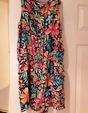 Girls multicoloured flowery summer beach all in one short age 14 years Miss Evie