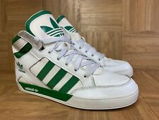 RARE🔥 Adidas Hard Court Forest Green White Leather Sz 11.5 Basketball Shoes