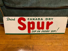 Rare Canada Dry Spur Soda Advertising Sign