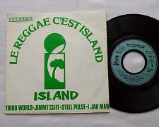 "V/A LE REGGAE C'EST ISLAND(3rd WORLD-J.CLIFF-I JAH MAN-..)FRENCH PROMO 7""EP w/PS"