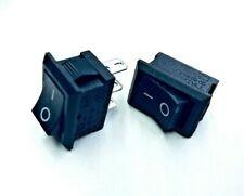 2 x Interruptor de encendido/apagado de 3 Pines 12v utilizado para automóviles/Marine Alarmas Indicadores de Reino Unido