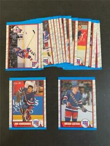 1989/90 OPC O-Pee-Chee New York Rangers Team Set 17 Cards Brian Leetch RC