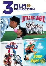 3 FILM FAVORITES: KIDS SPORTS - LITTLE BIG LEAGUE/LITTLE GIANTS/SURF NINJAS USED