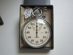 Vintage Stopwatch Agat USSR Mechanical Soviet TWO-Button Pocket StopWatch NEW