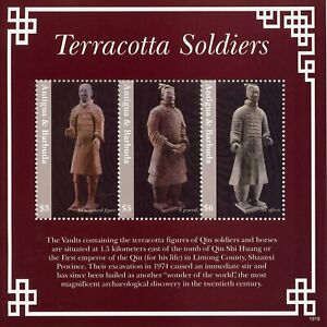 Antigua & Barbuda Art Stamps 2019 MNH Terracotta Qin Soldiers Sculptures 3v M/S